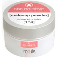 Poudre Acrylique Impuls MAKE-UP Natural Pink Beige #104 ABC Nailstore 35 gr